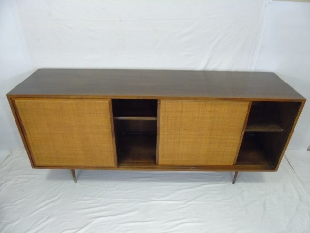 Mid Century Modern Cane Front Buffet Cabinet - 4