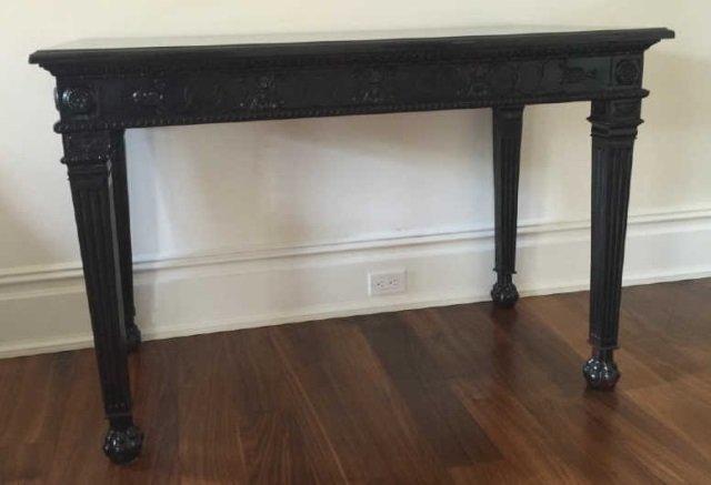 Contemporary Granite Top Georgian Console Table - 3