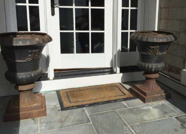 Pair Neo Classical Cast Iron Planter Pot / Urns