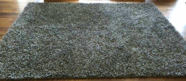 Contemporary Stark Grey Python Shag Carpet - 2