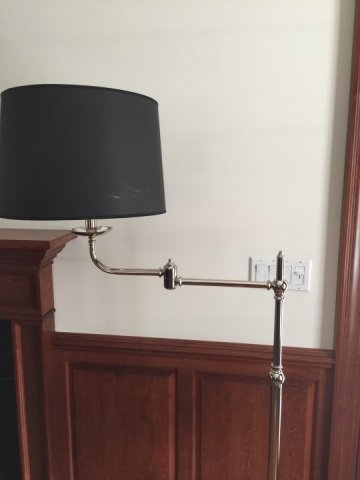 Contemporary Chrome & Custom Shade Floor Lamp - 3