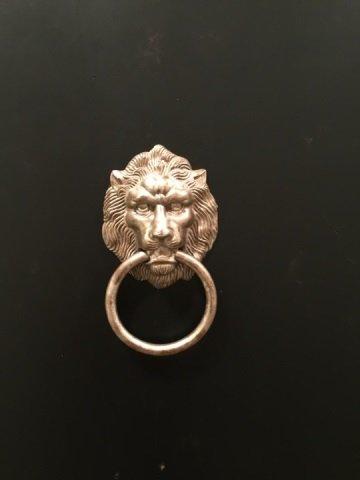Custom Made Black & Gold Lion Head Armoire - 4
