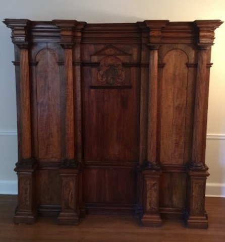 Antique 18th Century German Inlaid Castle Cabinet