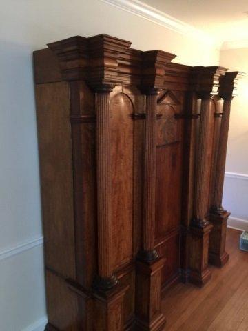 Antique 18th Century German Inlaid Castle Cabinet - 2