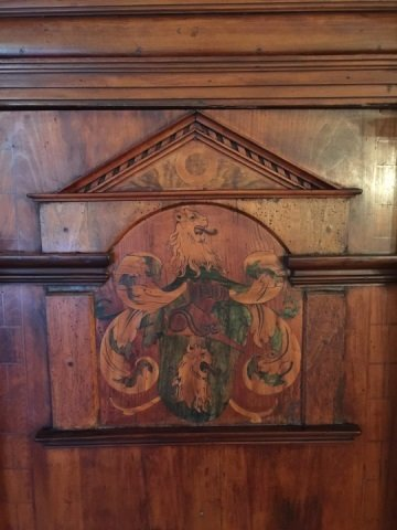 Antique 18th Century German Inlaid Castle Cabinet - 4
