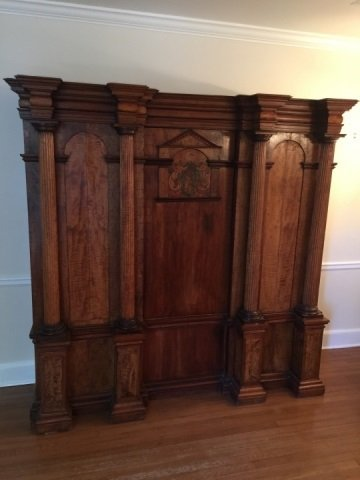 Antique 18th Century German Inlaid Castle Cabinet - 7