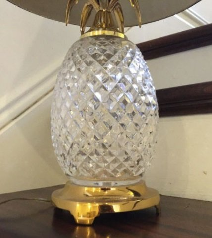 Waterford Crystal Pineapple Table Lamp & Shade - 2