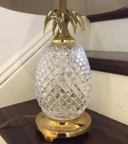 Waterford Crystal Pineapple Table Lamp & Shade - 3