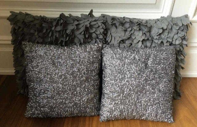 Four Contemporary Throw Pillows by Marlo Lorenz