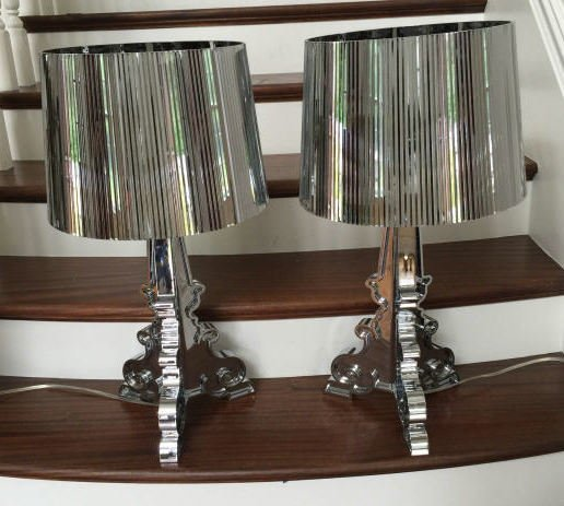 Pair Philippe Starck Bourgie Lamps by Kartell