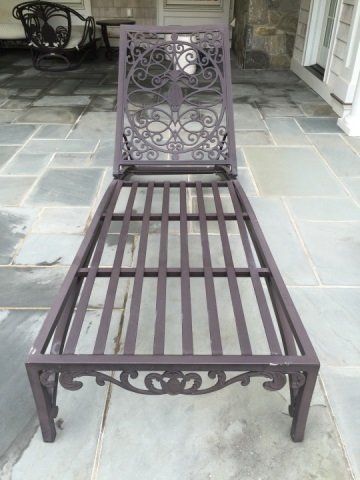 Pair Brown Jordan Cast Iron Pool / Lounge Chairs