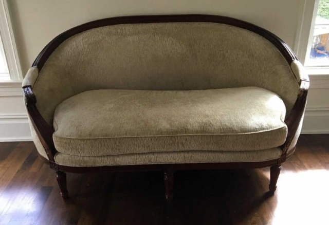 Contemporary Traditional Baker Curved Back Settee - 3