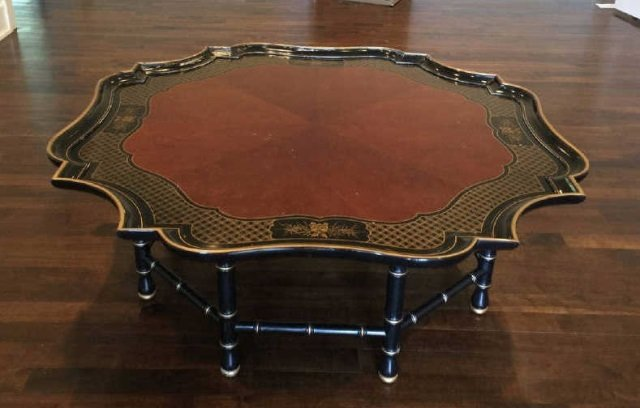 Contemporary Asian Style Tray Top Coffee Table