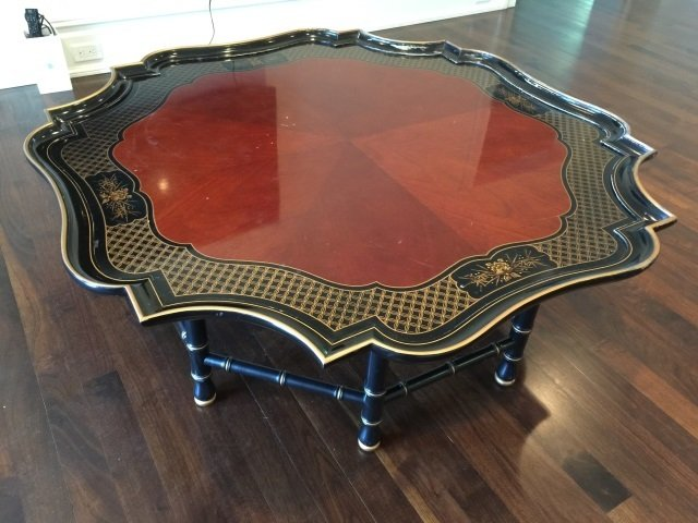 Contemporary Asian Style Tray Top Coffee Table - 2