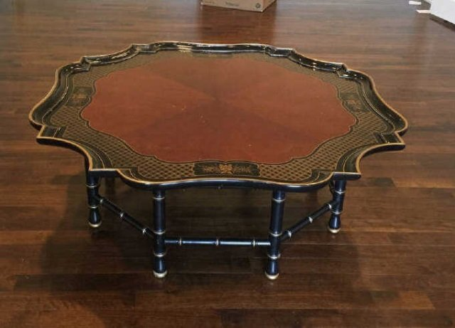 Contemporary Asian Style Tray Top Coffee Table - 3