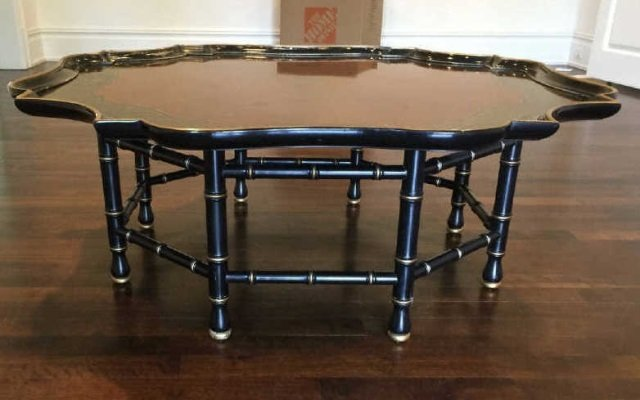 Contemporary Asian Style Tray Top Coffee Table - 4
