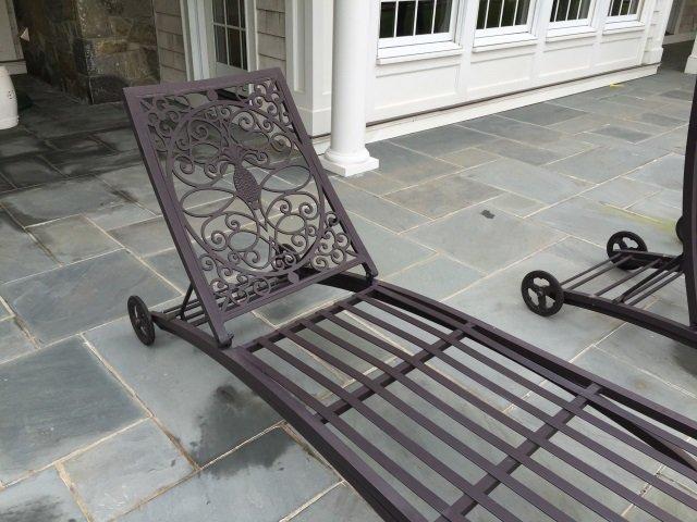 Pair Brown Jordan Cast Iron Pool / Lounge Chairs