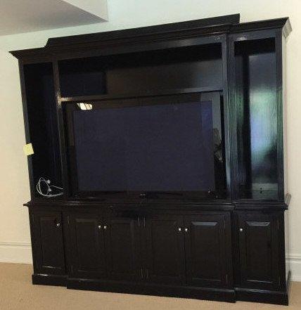 Custom Contemporary Bookcase / Entertainment Hutch