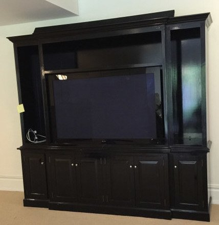 Custom Contemporary Bookcase / Entertainment Hutch