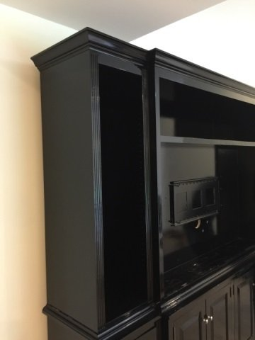 Custom Contemporary Bookcase / Entertainment Hutch - 3