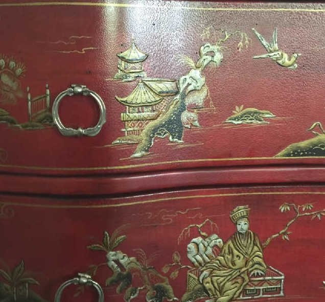 Contemporary Queen Anne Chinese Lacquer Dresser - 4
