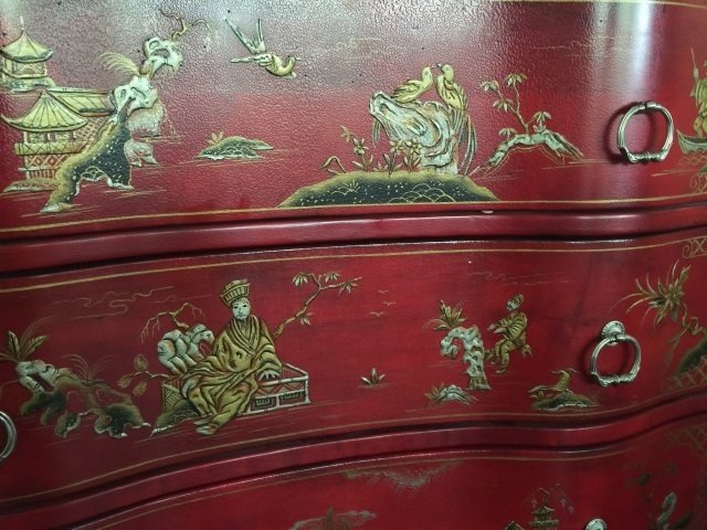 Contemporary Queen Anne Chinese Lacquer Dresser - 5