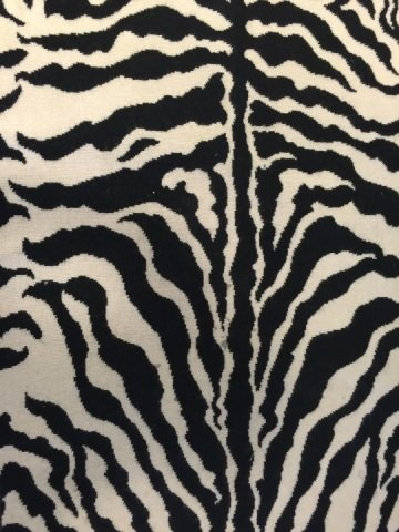 Contemporary Zebra Print Throw Rug by Stark - 2