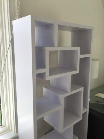 Contemporary White Mondrian Style Bookcase Unit - 3