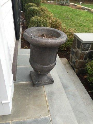 Pair Neo Classical Style Cast Concrete Planter Urn - 4
