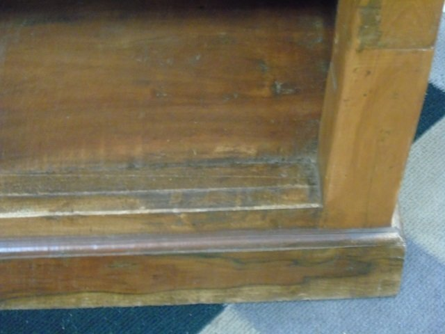 Antique Wood Carved Indonesian Bookcase w Columns - 6