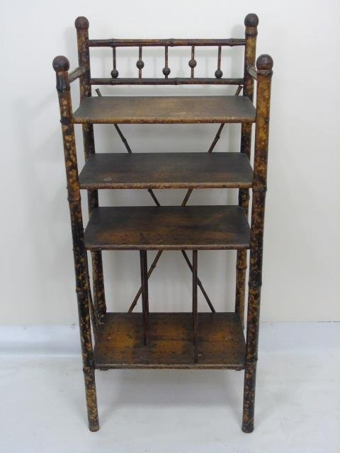 Two Antique Victorian Faux Bamboo Etageres - 2