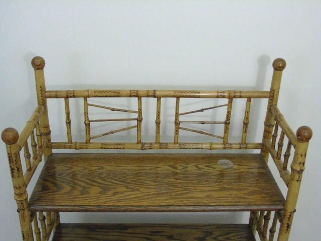 Two Antique Victorian Faux Bamboo Etageres - 6