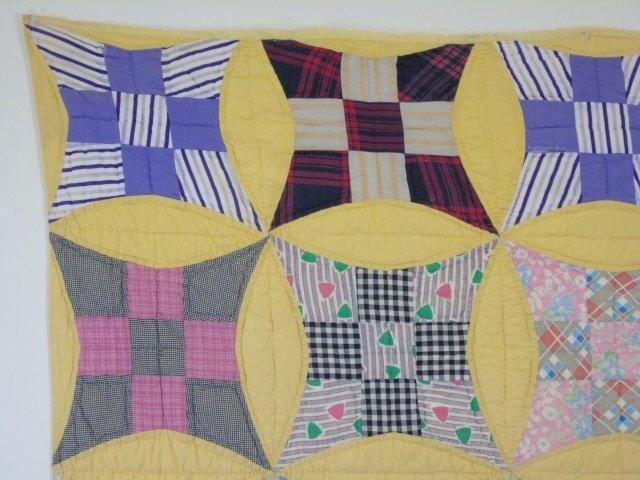 Vintage American Handmade / Hand Sewn Quilt - 3