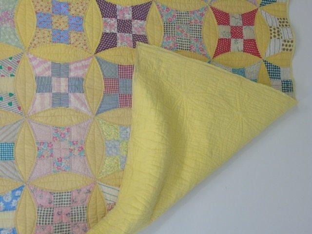 Vintage American Handmade / Hand Sewn Quilt - 6