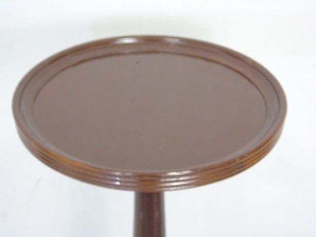 Pair Sheraton Style Mahogany Tone Display Pedestal - 4