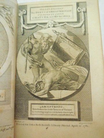 Set of 3 Antique Poetry Books Sheffield Akenside - 2