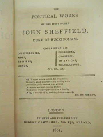 Set of 3 Antique Poetry Books Sheffield Akenside - 5
