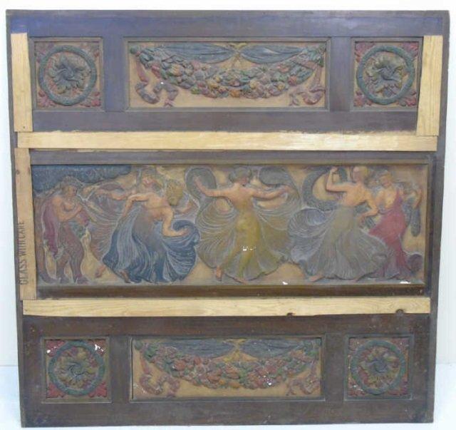 Antique Cast Plaster Architectural Salvage Plaque