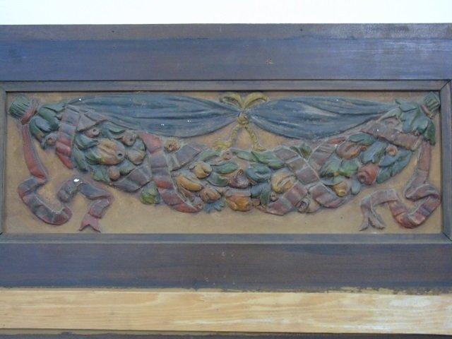Antique Cast Plaster Architectural Salvage Plaque - 4