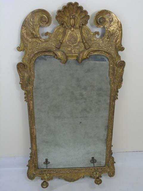 Late 18th / Early 19th C Continental Carved Mirror
