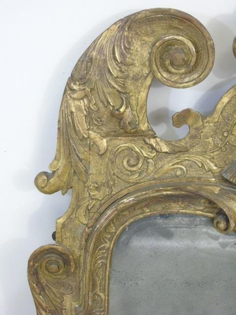 Late 18th / Early 19th C Continental Carved Mirror - 4