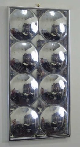 Contemporary Modern Silvered Bubble Mirror