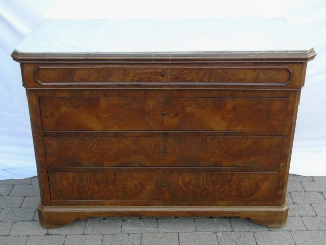 Antique Victorian Style Marble Top Chest of Drawer