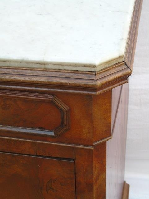 Antique Victorian Style Marble Top Chest of Drawer - 5