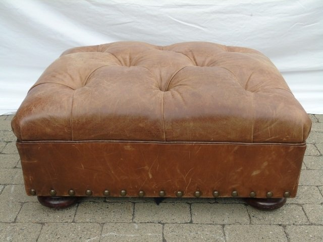 Contemporary Ralph Lauren Tufted Leather Armchair - 5
