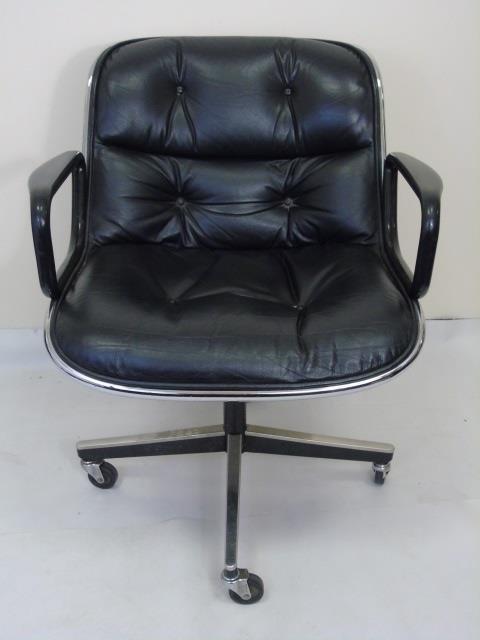 Mid Century Modern Knoll Leather Desk Armchair