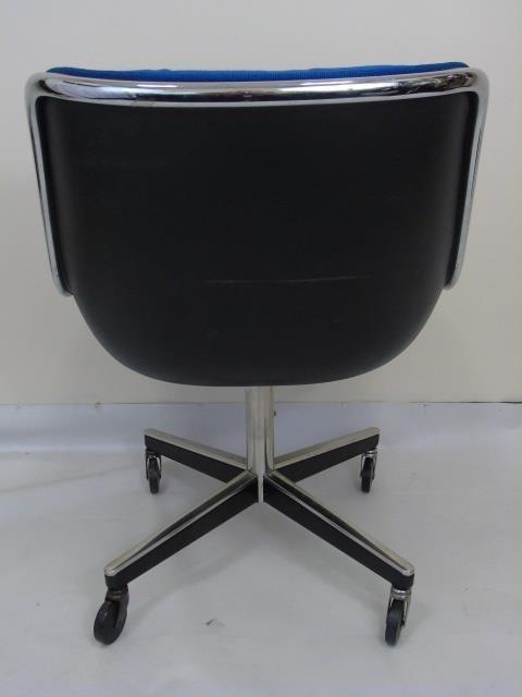 Mid Century Modern Knoll Leather Desk Armchair - 4