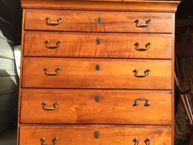 Antique 19th C Early American Chest of Drawers - 2