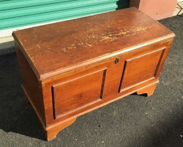Antique 19th C American Paneled Blanket Chest - 3