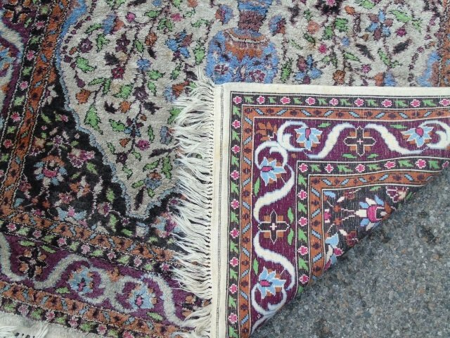 Knotted Wool Blend Persian Style Carpet - 2